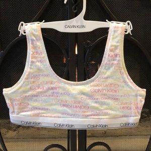 NWOT Calvin Klein Crop Bra Sz XL Girl's Cotton